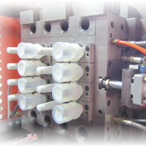 One-step injection blow mold