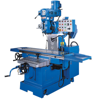 DOUBLE-PURPOSE OF VERTICAL & HORIZONTAL MILLING MACHINE WITH BED MODEL