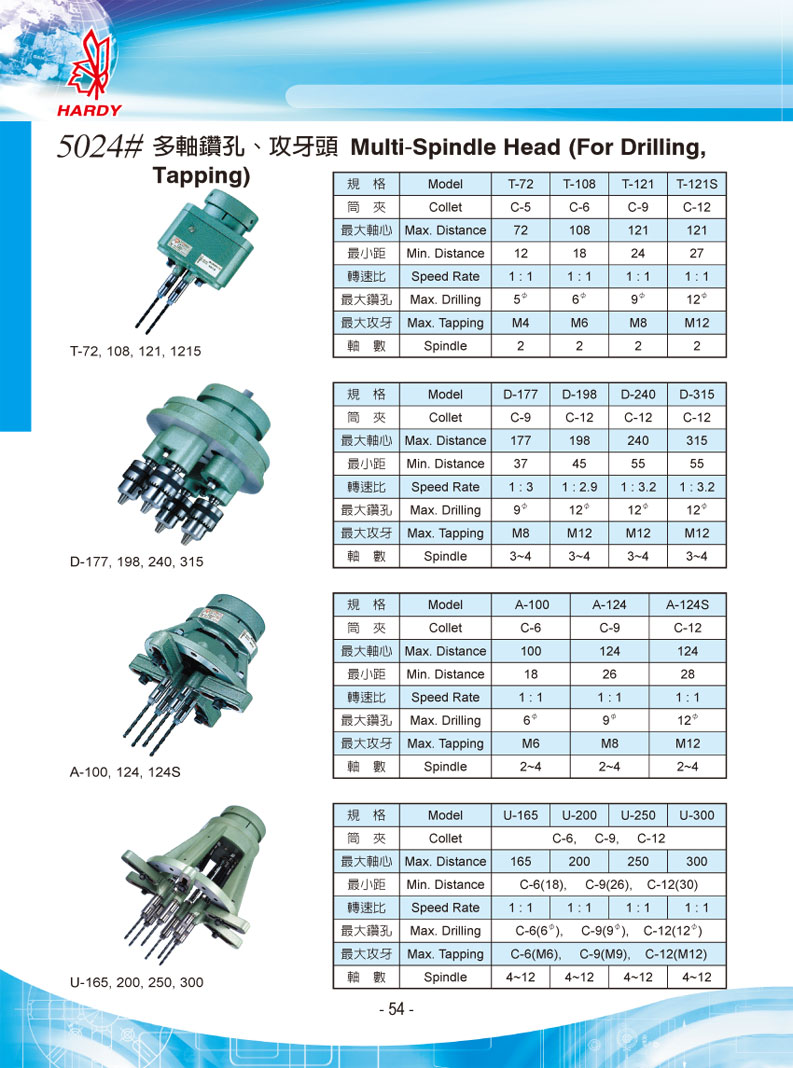 Multi-Spindle Head (For Drilling, Tapping)