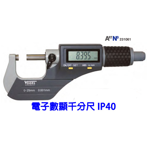 Electr. Digital Micrometer-IP40