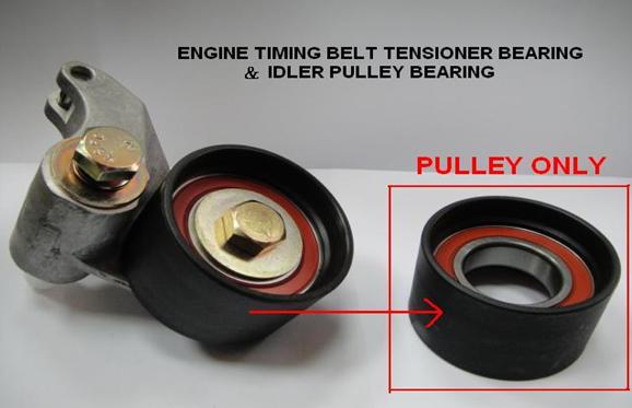 Engine timing belt tensioner bearing & idler pulley bearing