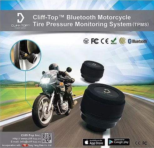 Motorcycle Bluetooth Tire Pressure Monitoring System (TPMS)