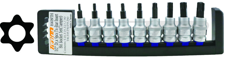 "TUF H409TH 9Pcs 1/2""Dr.Insert Bit Socket-Tamper Socket"