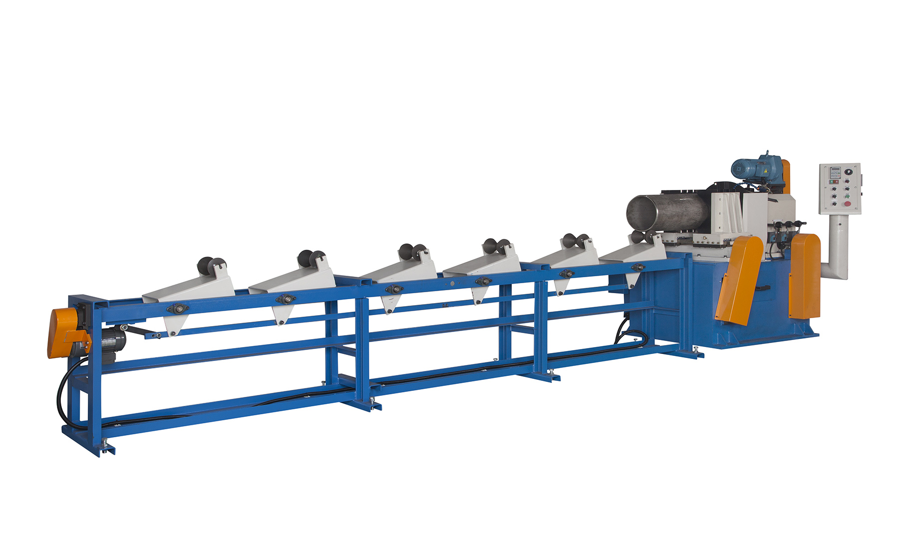 SINGLE END CHAMFERING MACHINE FOR METAL ROUND TUBE,BAR/SEMI AUTOMATIC TYPE-C-180-2A,C-300-1A,C-300-2A