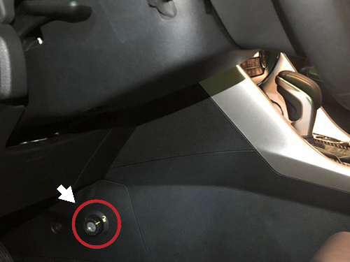 2018 Mitsubishi Eclipse Cross Hidden Gearshift Lock