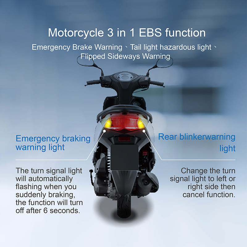 3 in 1 function Emergency brake system for motorcycle